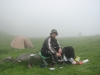 Ranní káva u jezera Dohjaska